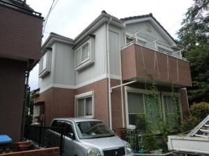 松戸市の外壁塗装と屋根塗装の外観の施工前写真