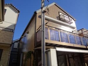 松戸市S様邸の外壁塗装と屋根塗装の外観の施工前写真
