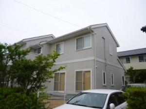 守谷市の外壁塗装と屋根塗装の外壁の施工後写真