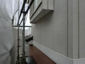 松戸市の外壁塗装と屋根塗装の外壁の施工前写真