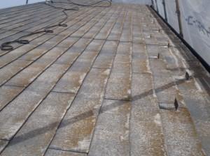 松戸市の外壁塗装と屋根塗装の屋根の施工前写真