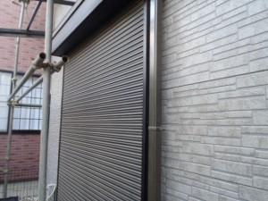 野田市の外壁塗装と屋根塗装のシャッターの施工前写真