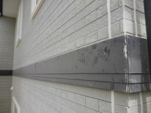 守谷市の外壁塗装と屋根塗装の幕板の施工前写真