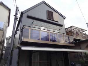 松戸市S様邸の外壁塗装と屋根塗装の外観の施工後写真