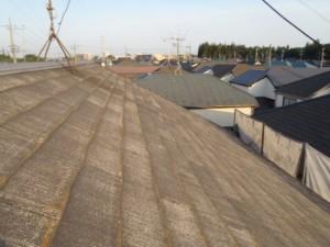 野田市の外壁塗装と屋根塗装の屋根の施工前写真