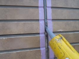 千葉県松戸市S様邸の外壁塗装と屋根塗装工程:コーキングの打ち替え