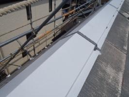 千葉県松戸市S様邸の外壁塗装と屋根塗装工程:釘頭にもコーキング剤工事