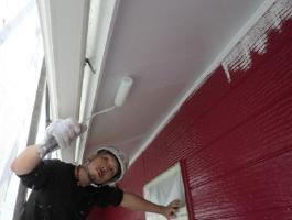 千葉県印西市H様邸の外壁塗装と屋根塗装工程:下塗り