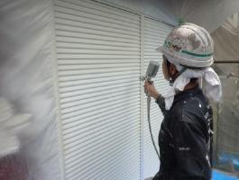 千葉県印西市H様邸の外壁塗装と屋根塗装工程:上塗り1回目