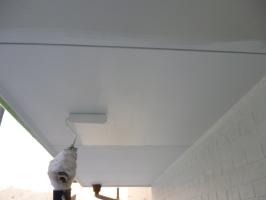 茨城県守谷市I様邸の外壁塗装と屋根塗装工程:軒天