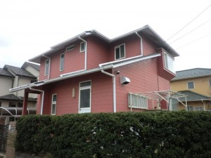 印西市の外壁塗装と屋根塗装の外観の施工前写真
