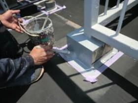 架台のウレタン塗装