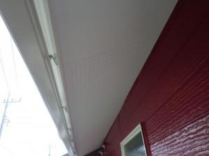 印西市の外壁塗装と屋根塗装の軒天の施工後
