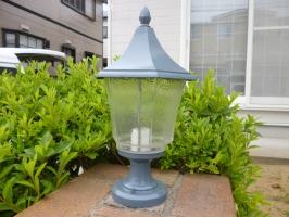 茨城県守谷市I様邸の外壁塗装と屋根塗装工程:照明