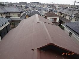 千葉県柏市K様邸の施工後4年目点検 屋根の様子