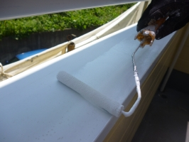 千葉県柏市K様邸の外壁塗装と屋根塗装工程:下塗り