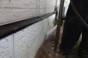 千葉県成田市M様邸の外壁塗装と屋根塗装工程:高圧洗浄