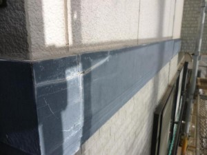 幕板塗装施工前