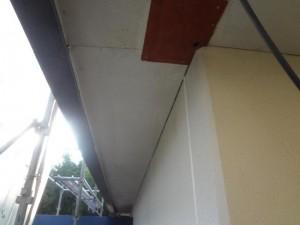 茨城県取手市 O様邸 付帯塗装:軒天施工前