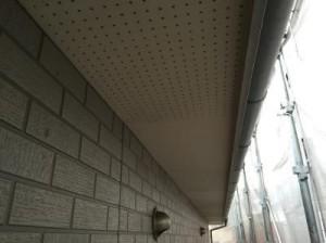 千葉県市川市真間 O様邸(アパート) 軒天塗装 施工前