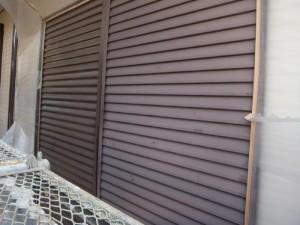 つくばみらい市の外壁塗装と屋根塗装の雨戸の施工前写真