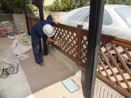千葉県柏市N様邸の外壁塗装と屋根塗装工程:ケレン