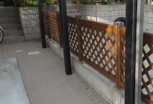 柏市の外壁塗装と屋根塗装の柵の施工後写真