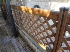 柏市の外壁塗装と屋根塗装の柵の施工前写真