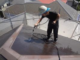 千葉県松戸市の屋根塗装工程の高圧洗浄