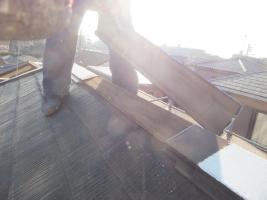 千葉県船橋市の屋根塗装工程の板金部のチェック