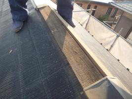 千葉県船橋市の屋根塗装工程の板金部の下地木材交換
