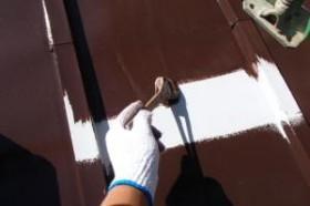 千葉県松戸市A様邸の屋根塗装工程の足場部分の塗装