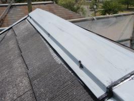 茨城県取手市T様邸の外壁塗装と屋根塗装工程:釘頭コーキング