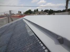 千葉県松戸市S様邸の外壁塗装と屋根塗装工程:釘の打ち込み