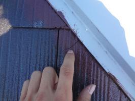 スレート屋根のクラック補修