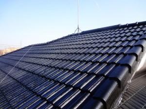 龍ヶ崎市の外壁塗装と屋根塗装の屋根の施工後写真