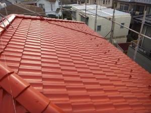 つくばみらい市の外壁塗装と屋根塗装の屋根の施工後写真
