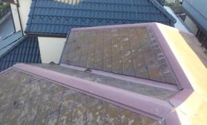 千葉県野田市 O様邸 外壁塗装と屋根塗装の屋根の施工前写真