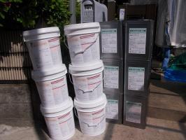 千葉県柏市N様邸の外壁塗装と屋根塗装工程:使用材料1