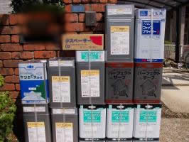 千葉県白井市S様邸の外壁塗装と屋根塗装工程:使用材料