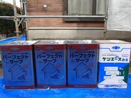 千葉県取手市A様邸の外壁塗装と屋根塗装工程:使用材料