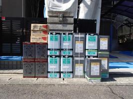 茨城県取手市K様邸の外壁塗装と屋根塗装工程:使用材料4