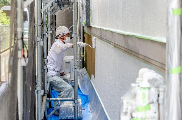 ホームセンターの外壁塗装工事