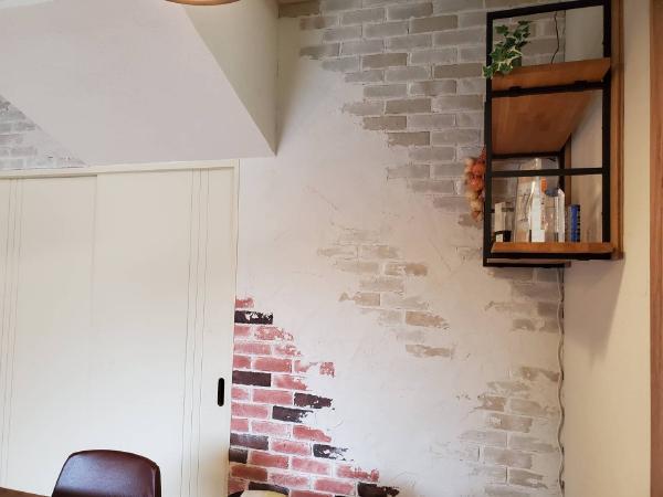 カルセラと珪藻土の壁