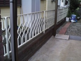 既存フェンスの撤去2