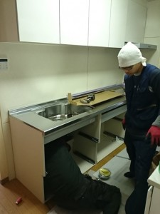 埼玉県吉川市キッチン組立