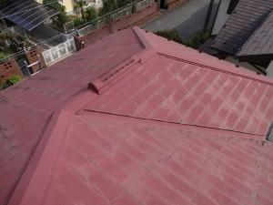 屋根塗装前_色褪せ_柏市F様邸