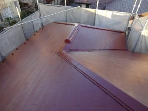 屋根塗装後_遮熱塗料_サーモアイSi_クールマルーン