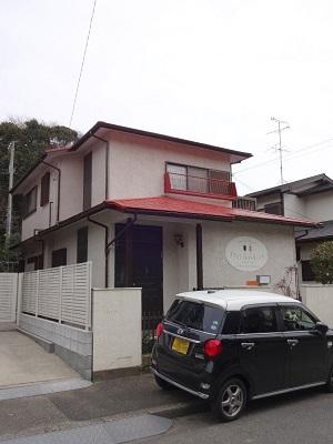 千葉県船橋市上山町 S様邸 外壁周りの補修 屋根と破風板の腐食を補修して屋根塗装
