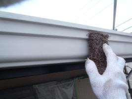 茨城県取手市K様邸の外壁塗装と屋根塗装工程:ケレン